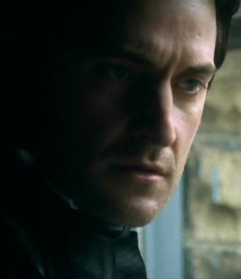Another early favorite of mine, a screencap of Armitage as Mr. Thornton. I love the way his face is lit here.