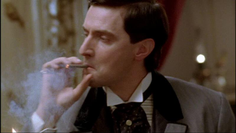 Richard Armitage smoking a cigarette (or weed)