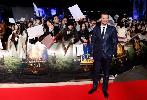Cast member Richard Armitage attends the Japan premiere of the movie 'The Hobbit - An Unexpected Journey' in Tokyo