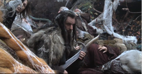 Richard Armitage plays air guitar on the Hobbit set. This was originally capped from one of Peter Jackson's vlogs.