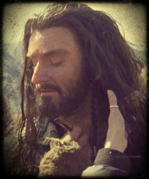 (Not really) petting Thorin | Me + Richard Armitage