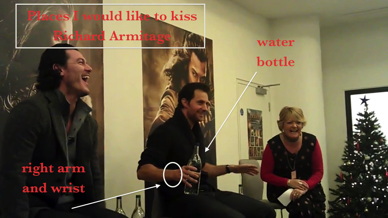 places i would like to kiss richard armitage  hobbit