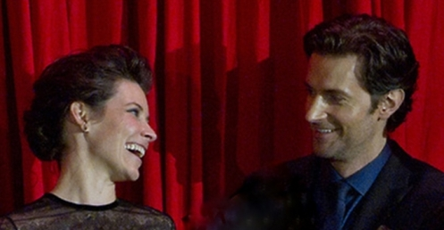 Evangeline Lilly and Richard Armitage, Berlin premiere of The Hobbit: The Desolation of Smaug, December 2013.
