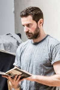 Richard Armitage, in rehearsal for The Crucible, 2014. From the program.