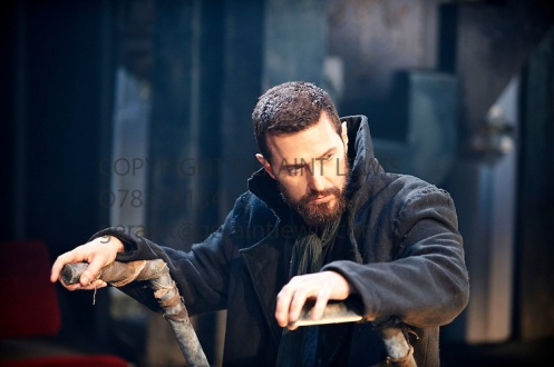 Richard Armitage's entry into the scene as John Proctor in Act One of The Crucible, June 2014. Photo by Geraint Lewis.
