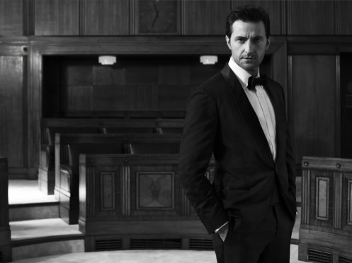 Richard Armitage, photographed by Blair Getz Mezibov for Esquire, December 2013. Tuxedo by Brunello Cucinelli.