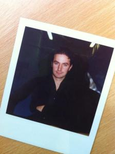 Youthful [g]-d? Richard Armitage, while at the Birmingham Rep, photo tweeted by Andrew Whiteoak, April 18, 2013.