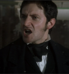 Mr. Thornton (Richard Armitage) objects to Margaret's presence on his factory floor, in episode 1 of North & South. Source: RichardArmitageNet.com