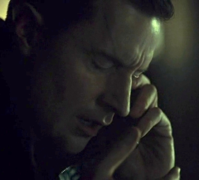 Francis Dolarhyde (Richard Armitage) as he realizes he's speaking to Hannibal, in Hannibal 3.10. Re-exposed screencap.