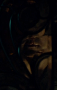 Also, another great shot of the Dragon as all mouth in Hannibal 3.12, as Dolarhyde answers the door. Screencap.
