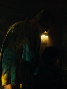 Dolarhyde rues Chilton's position that he is insane, in Hannibal 3.12. Screencap.