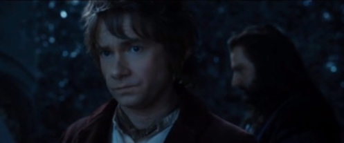 The scene mentioned above. Richard Armitage as Thorin Oakenshield and Martin Freeman as Bilbo Baggins.
