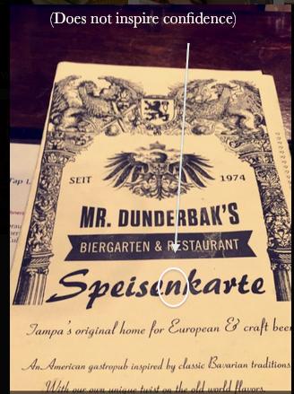 The menu cover.