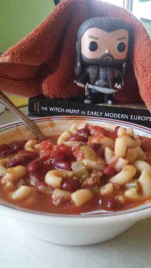 """""""You said we were having chilli! What the heck is this?"""" """"You're in Wisconsin, Thorin, get used to it!"""""""