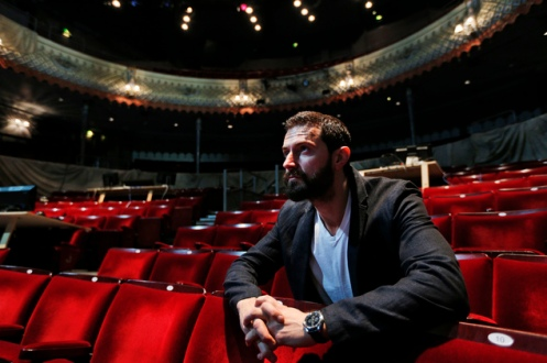 "In this Thursday, June 26, 2013 photo, British actor Richard Armitage poses for the photographer at the Old Vic theatre in London. The British actor, who played dwarf warrior Thorin Oakenshield in Peter Jackson's ""Hobbit"" trilogy, stars at London's Old Vic Theatre as John Proctor, the decent man in a world gone mad at the center of ""The Crucible,"" Arthur Miller's modern classic about the Salem witch trials. (AP Photo/Lefteris Pitarakis)"