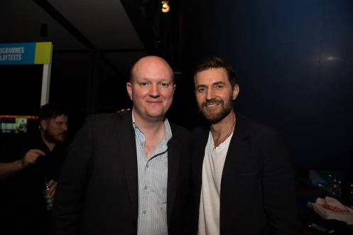 Mike Bartlett (Writer) and Richard Armitage | Wild Press Night Photo: © Alice Boagey 2016 – Source.