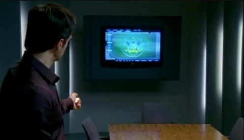 Lucas North (Richard Armitage) briefs the Chancellor of the Exchequer on Meynell's financial dealings, in Spooks 7.5. Source: RichardArmitageNet.com