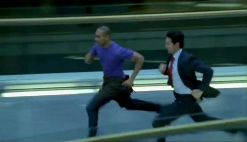 Ben and Lucas North run to rescue Ros, in Spooks 7.5. Source: RichardArmitageNet.com