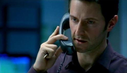 Lucas North (Richard Armitage) makes a phone call, in Spooks 7.5. Source: RichardArmitageNet.com