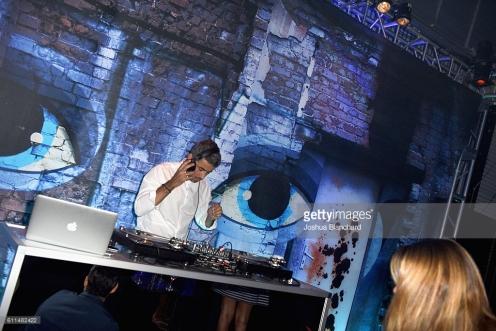 "attends EPIX ""Berlin Station"" LA premiere at Milk Studios on September 29, 2016 in Los Angeles, California."
