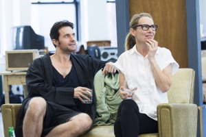 Rehearsal photo of Richard Armitage and Amy Ryan in Love, Love, Love, from Roundabout Theater Company.