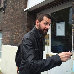 Armitage on his way into the Old Vic, June 2014.