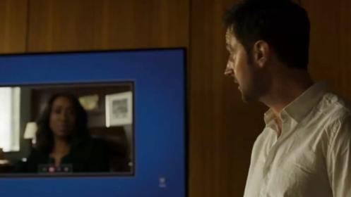 Daniel Miller (Richard Armitage) ups the ante with regard to Thomas Shaw, in Berlin Station 1.1.
