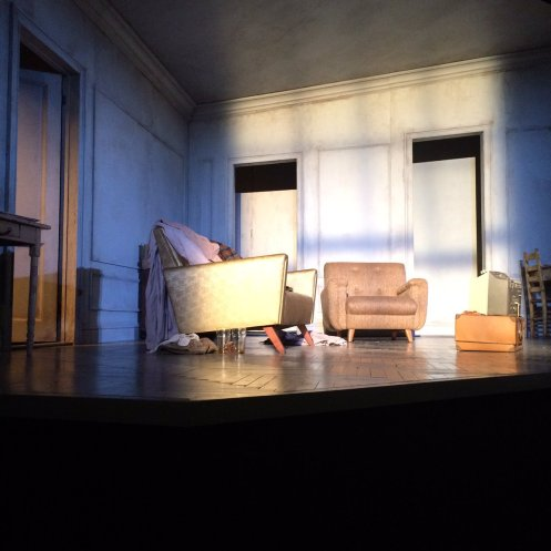 Photo from side of theater (stage right) on opening night, courtesy of @DaphneHS.