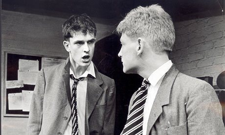 Rupert Everett and Kenneth Branagh in the stage version of Another Country at the Queen's Theatre, 1983.