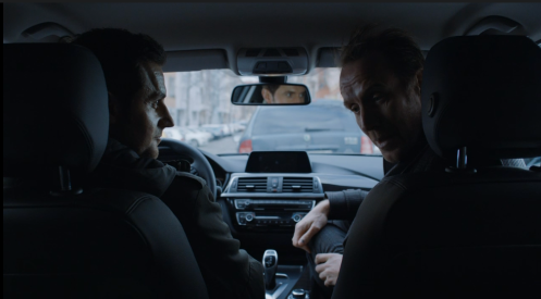 Gratuitous photo of Armitage's eyes in the rear view mirror -- i feel like I've we've seen this before.
