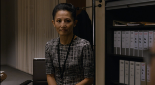 """They're just decision, Steven."" Tamlyn Tomita as Sandra in Berlin Station 1.5. Screencap."