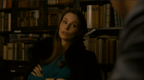 """Genius,"" Esther responds to one of Daniel's suggestions. Berlin Station 1.5 screencap."