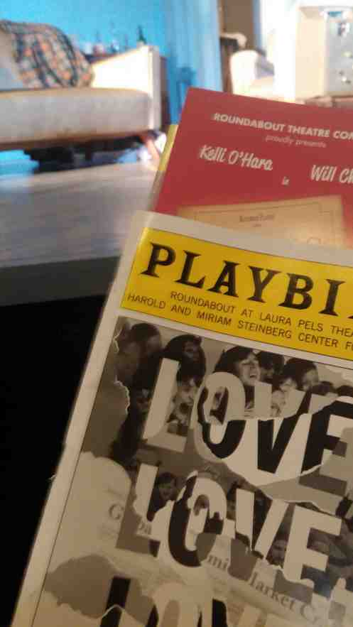 Saturday evening playbill photo. Hmm. I think these must be more exciting if they are tweeted.
