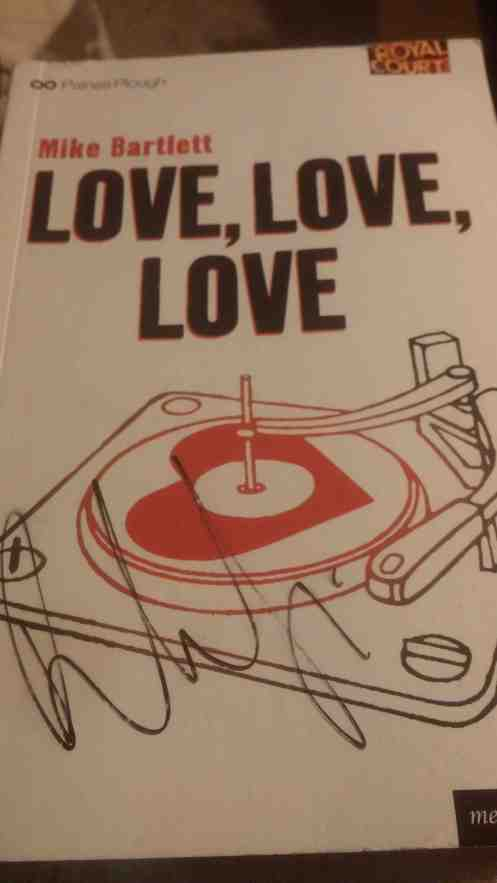 My Love, Love, Love stage door souvenir.