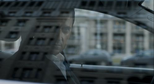 Beautiful shot of Daniel Miller watching Hans Richter in the Karl Marx Allee