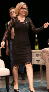 Sandra at 64 (cap from curtain call photo).