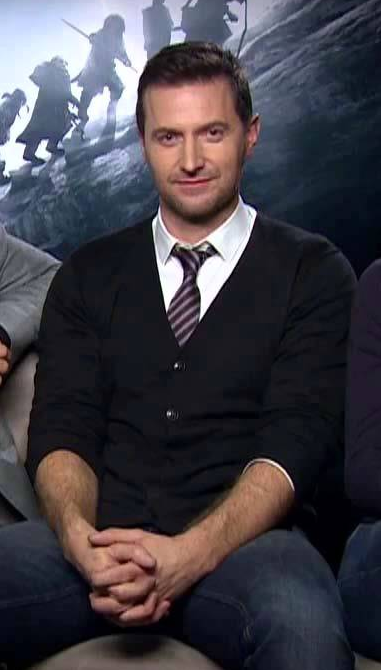 Richard Armitage, press tour for The Hobbit: An Unexpected Journey DVD release (2013).