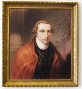Portrait of Patrick Henry that they have at the college.