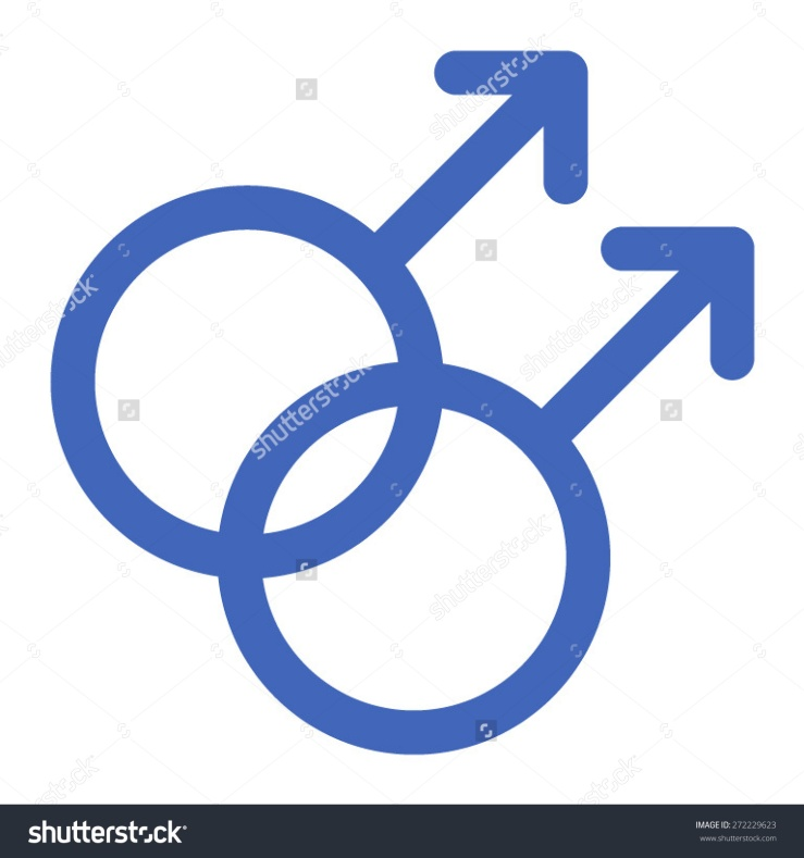 Stock Vector Gay Gender Symbols Line Art Icon For Apps And Websites