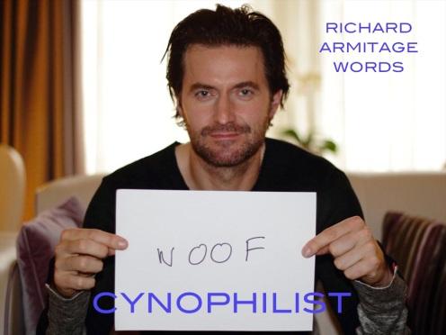 cynophilist: a dog lover. Richard Armitage during 2013 Hobbit publicity round.
