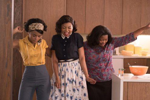 Mary Jackson (Janelle Monae, left), Katherine Johnson (Taraji P. Henson) and Dorothy Vaughan (Octavia Spencer) in Hidden Figures. Photo by Hopper Stone