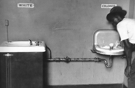 A segregated water fountain setup from South Carolina. If you run across an odd double fountain set up in a public building in the southern US, you may be seeing the remnants of Jim Crow. We had at least one of these in my office building in Texas.