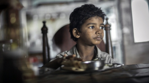 Sunny Pawar as the young Saroo. He was initially denied a visa to attend the U.S. premiere of the film, although this decision was later overturned.