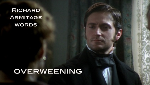 """Proud or arrogant. From Middle English """"wenen,"""" to think or imagine. Richard Armitage as John Thornton in episode 1 of North & South. Source: RichardArmitageNet.com"""