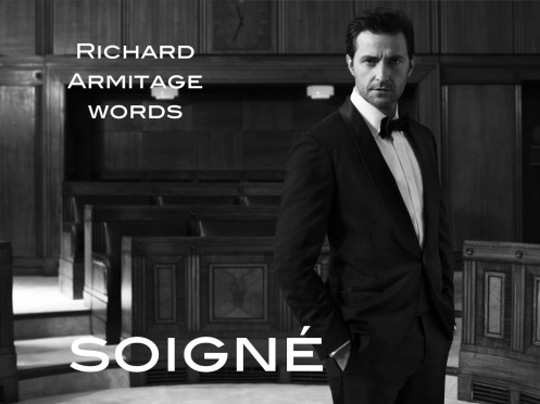 soigné: elegantly dressed and well groomed, from French soigner, to take care of. Richard Armitage as photographed by Blair Getz Mezibov.
