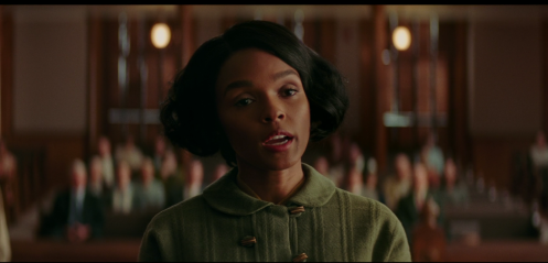 Mary Jackson (Janelle Monae) pleads her case to be allowed to attend the white high school classes.