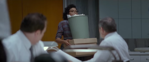 Racial prejudice at work: Katharine Goble's new colleagues take her for the cleaning lady on her first day of work.
