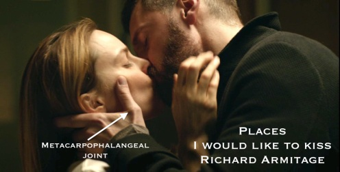 """Places I would like to kiss Richard Armitage: Daniel """"trauma"""